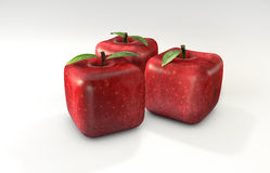 Cubic apples Royalty Free Stock Photos