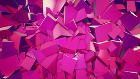 Cubic background stock footage
