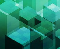 Cubic blocks Stock Images