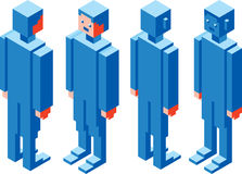 Cubic Character Stock Photo