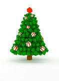 Cubic christmas tree Stock Photos
