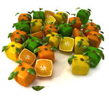Cubic citrus Royalty Free Stock Images