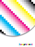 Cubic cmyk background Royalty Free Stock Image