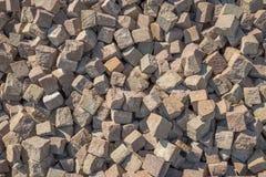 Cubic cobblestones Stock Photos