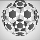 Cubic dimensional black and white layout  Stock Photo