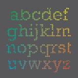 Cubic Font. A set of rainbow colored cubic alphabet letters Stock Photo