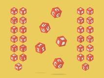 Cubic font. Vector alphabet. Letters. Typeface design vector illustration