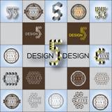 Cubic form vector logos set Stock Image