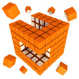 Cubic Gathering Royalty Free Stock Photo