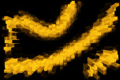 Cubic gold line Stock Photography