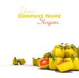 Cubic grapefruit Stock Images
