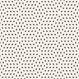 Cubic Grid Tiling Endless Stylish Texture. Vector Seamless Black and White Pattern Stock Photos