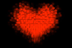 Cubic Heart. An explosion of cubic love Royalty Free Stock Photo