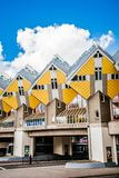 Cube Houses in Rotterdam with Blue Sky Background stock photo