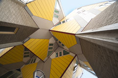 Cubic Houses. Famous Cubic Houses of Rotterdam, designed by Piet Blom Stock Photo