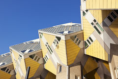 Cubic houses at Rotterdam. Famous cubic houses at the city of Rotterdam Stock Photos