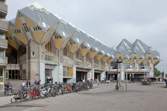 Cubic houses in Rotterdam. The Netherlands Holland Royalty Free Stock Images