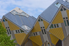 Cubic Houses. Rotterdam. In the complex of Cubic Houses by Piet Blom Royalty Free Stock Photo