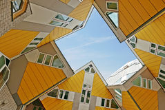 Cubic houses at Rotterdam. Modern cubic Houses in Rotterdam, Netherlands Royalty Free Stock Image