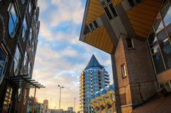 Cubic houses in Rotterdam. Netherlands, from architect Piet Blom Royalty Free Stock Image