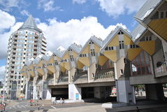 The Cubic Houses of Rotterdam 1. Cubic houses by Piet Blom in Rotterdam Stock Photos