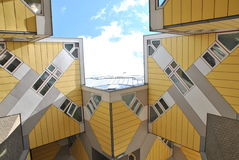 The Cubic Houses of Rotterdam. Cubic houses by Piet Blom in Rotterdam Royalty Free Stock Photography