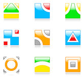 Cubic icons Royalty Free Stock Photos
