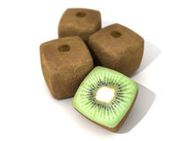 Cubic kiwis Royalty Free Stock Photos