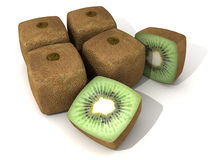 Cubic kiwis arrangement Stock Photography