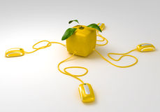 Cubic Lemon communications Royalty Free Stock Photos