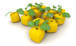 Cubic lemons group Stock Images