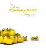 Cubic lemons Stock Images