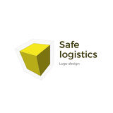 Cubic logo design. Vector logo design. Isometric cube design concept for logistics companies or others. Isolated on white background Stock Photography