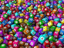 Cubic lottery balls Stock Photo