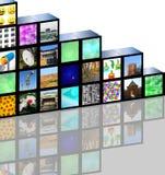 Cubic media Stock Photo