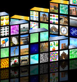 Cubic media Royalty Free Stock Photography