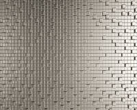 Cubic metallic creative background Royalty Free Stock Photo