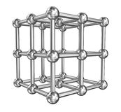 Cubic  molecule connect Stock Photos