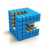 Cubic Network Stock Photo