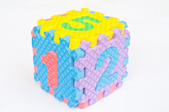 Cubic of number Royalty Free Stock Image
