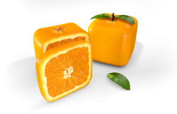 Cubic orange Royalty Free Stock Image