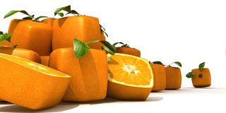 Cubic orange pile Royalty Free Stock Images
