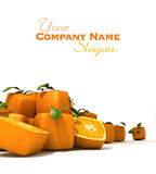 Cubic orange pile Stock Photos