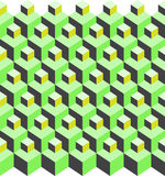 Cubic pattern illusion Stock Images