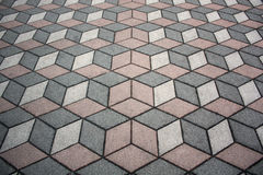 Cubic Pattern Stock Photography