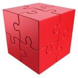 Cubic puzzle Stock Photos