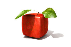 Cubic red apple Stock Images