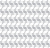 Cubic Seamless Pattern Background. Greyscale Vector Illustration Royalty Free Stock Photos