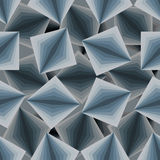 Cubic seamless pattern. 3d background of squares. Texture to fab Stock Photography