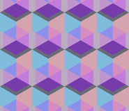 Cubic seamless Pattern. Geometric background of hexagons. Grid Pattern. Abstract Background. Isometric background. Three. Vector regular Texture. Cubic seamless Royalty Free Stock Image